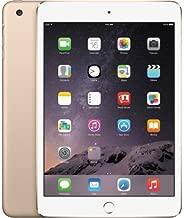 Apple iPad Mini 3 VERSION (Gold, 16 GB + Cellular 4G LTE UNLOCKED) (Renewed)