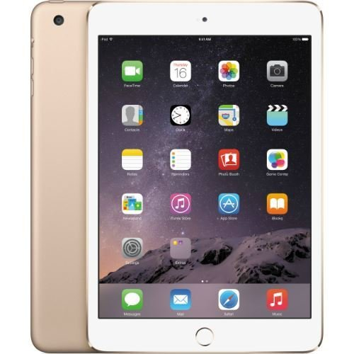 Apple iPad Mini 3 VERSION (Gold, 16 GB + Cellular 4G LTE UNLOCKED) (Certified Refurbished)