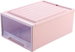 Boîte de rangement en plastique transparent, armoire de rangement empilable de type tiroir, boîte de rangement, boîte à ch...