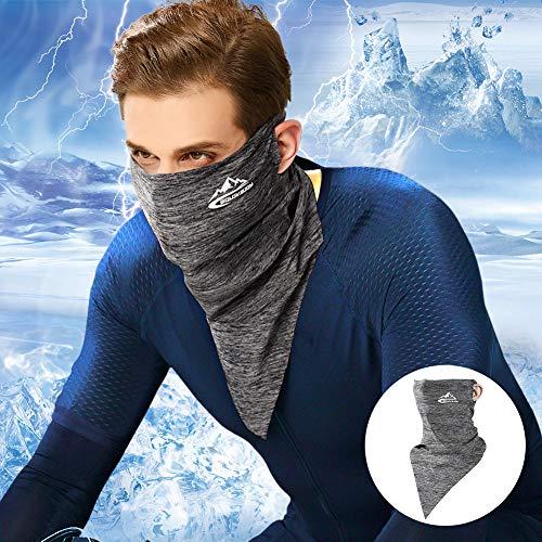 Eareba フェイスカバー【冷感】ネックガード UVカット 紫外線対策 フェイスカバーメンズ 耳かけタイプ UPF50+ 日焼け防止 UVフェイスガード 伸縮・通気性 呼吸しやすい 男女兼用