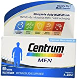 Centrum Men Multivitamins and Minerals Tablet | 60 Tablets (2 Months Supply) | 24 Essential nutrients Vitamins and Minerals Tailored for Men Under 50 | Vitamin D | Complete from A - Zinc*