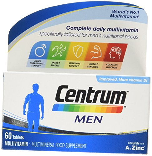 Centrum Multivitamin Tablets for Men, Pack of 60