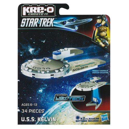 Hasbro KRE-O Star Trek U.S.S. Kelvin Bausatz (A3370), Minimodel mit 37 Bausteinen