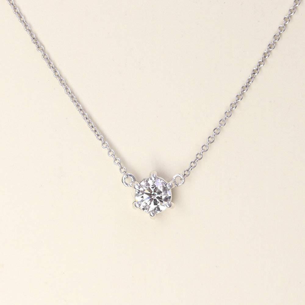 Inexpensive 0.35 Bargain CT. Diamond Solitaire Necklace Nec Genuine Pendant