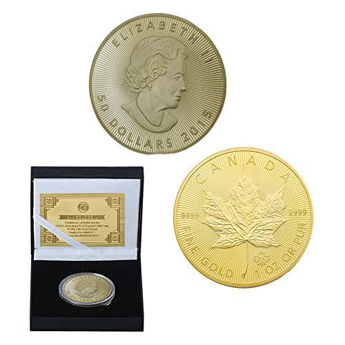 2015, Kanada, Maple Leaf, Vergoldet, Gedenkmünze, Commonwealth Königin, Sammlung, Schön, Geschenk, Herausforderungs-Münze, die Entscheidung, Kunst