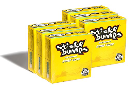 Sticky Bumps Original Surf Board Wax (Tropical, 6 Pack)