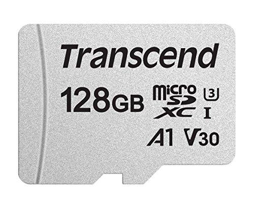Transcend Usd300S Tarjeta Microsd de 128Gb, Clase 10,, V30, A1, Hasta 95 Mbs de Lectura
