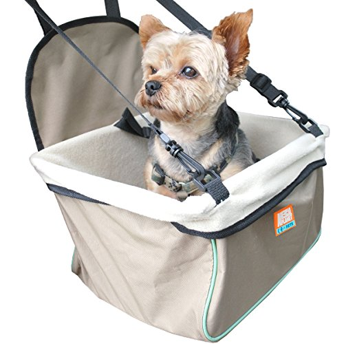 Animal Planet Puppy Booster Car Seat Cover for Small Dogs - Portable,...
