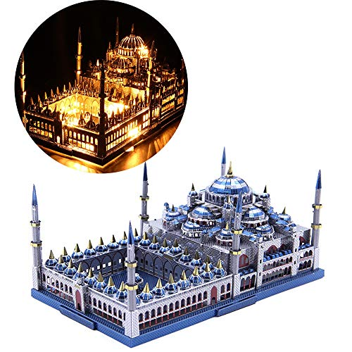 GJQASW 3D puzzle, mosque 3D metal assembled model construction toy craft puzzle set puzzle toy is not easy to deform, not easy to fade, save lasting