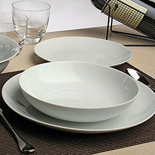 Tognana Servizio Completo di Piatti 15 Pezzi Set per 5 Persone Metropolis Bianco in Porcellana