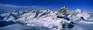 Swiss Alps from Klein Matterhorn, Switzerland Poster Print (36 x 12)