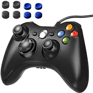 XBOX 360コントローラー 有線 ゲームパッド Xbox&Slim PCコントローラー 人体工学 Windows 7適用 【1年安心保障付き】