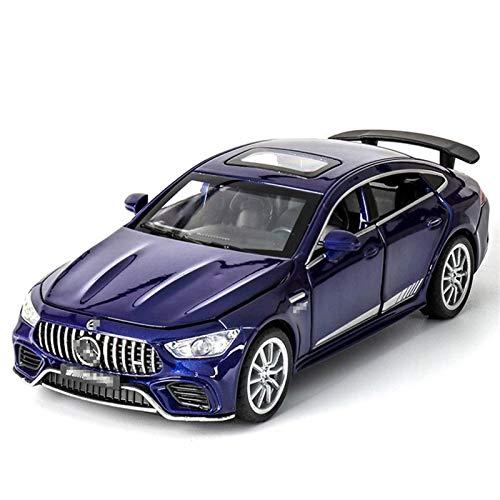 Diecast Model Coche 1:32 Aleación de simulación T-OY Coche Diecast para AMG GT-63 S Modelo de automóviles deportivo Vehículos Decoraciones de automóviles Puerta trasera Abra la puerta abierta (Color: