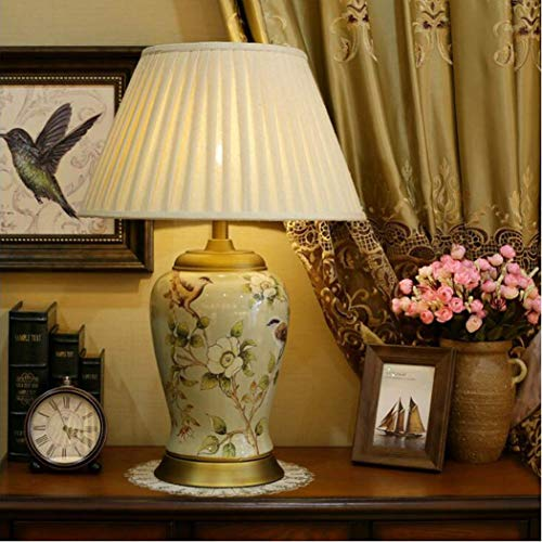 Beautiful lamps/Europese lamp van keramiek, woonkamer, slaapkamer, bedlampje, villa in Amerikaanse stijl, alle koperen en vogels lampen