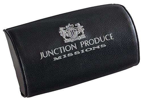 JUNCTION PRODUCE MISSIONS ネックパッド 刺繍ロゴ入り ブラックxシルバー GM214702