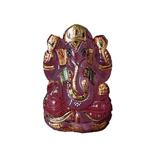 Gemhub Aproximadamente 1260.50 Carat. Certificado por el Laboratorio Estatua del Señor Ganesha - Obra de Oro Cuarzo Rosa Dios hindú del éxito - V-4488