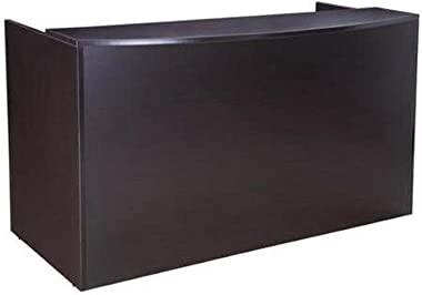 BOSS Reception Desk, 71 x 30/36 x 42, Mocha