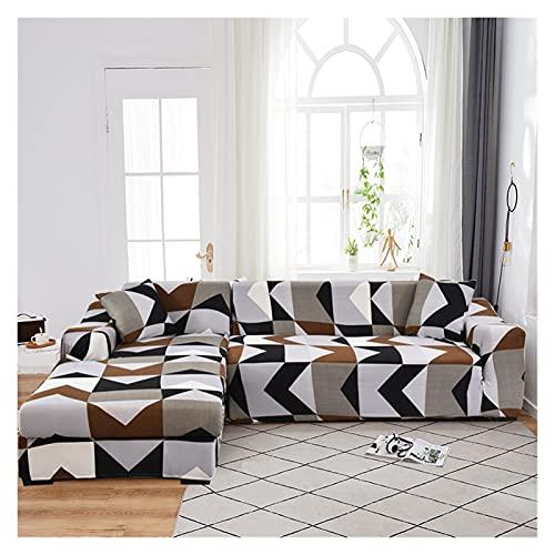 ZIJ Cubiertas de sofá de Esquina para Sala de Estar L Formafa Funda Stretch Slight COÁFICA Cubierta DE Cubierta Separada (la Forma de L Debe Comprar 2 Piezas)