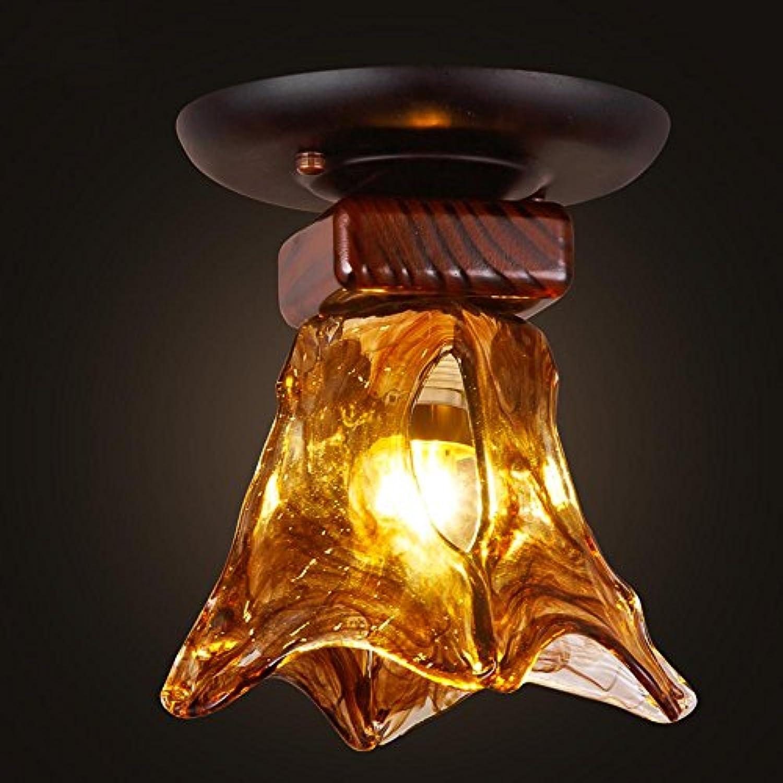 QINQ6 Retro LED Deckenleuchte Glas Schlafzimmer Esszimmer Wohnzimmer Lampen Korridor Balkon Beleuchtung E27 Durchmesser 5,91 in  Hhe 9,84 in [Energieklasse A ++]