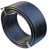 EXCOLO PE Rohr 25 mm x 50 Meter PE-HD Rohr Wasserrohr Wasser Leitung Kunststoffrohr Bewässerung Wasser Rohre schwarz