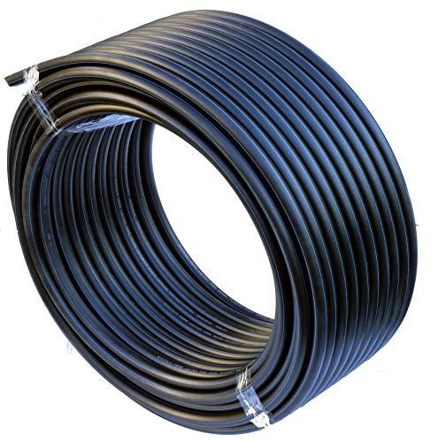 EXCOLO PE Rohr 32 mm x 25 Meter PE-HD Rohr Wasserrohr Wasser Leitung Kunststoffrohr Bewässerung Wasser Rohre schwarz