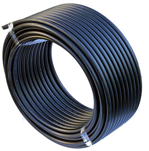 EXCOLO PE Rohr 32 mm x 100 Meter PE-HD Rohr Wasserrohr Wasser Leitung Kunststoffrohr Bewässerung Wasser Rohre schwarz