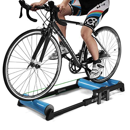 Foxglove Fahrrad Rollentrainer Rennrad Heimtrainer Schwungrad/Indoor Hometrainer Fahrrad Roller/Fahrradtraining Fitness Fahrradtrainer MTB Rennrad Roller für 24-29 Zoll Mountainbike / 700c Rennrad