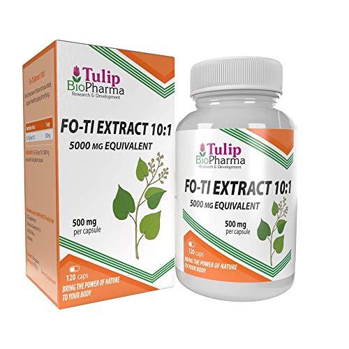 Fo-Ti Extract (He Shou Wu) 10:1 5000mg Equivalent 120 Capsules