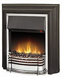 Features a 2 KW heat output Choice of two heat settings Flame effect only setting Choice of real coal or white pebble fuel bed (both included) BEAB approved One year guarantee