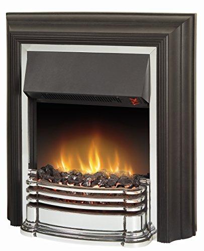 Dimplex DTT20 Detroit 2 KW Freestanding Optiflame Electric Fire, Black, 67cm (H) x 61.4 (W) x 22.9 (L)
