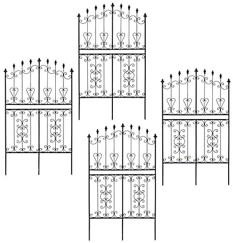 ガーデンガーデン お庭をエレガントに彩る IBフェンス ローズワイド ロータイプ 幅92.5×高さ155cm 4枚セット ブラック アイアントレリス IBF-RSWIDE155-4P