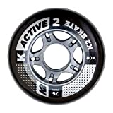 K2 30B3001.1.1 Roues Mixte Adulte, Noir, Taille : 76 mm
