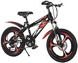 N\A ZGGYA Bicicletas para Hombre, Pedales Antideslizantes, Bicicletas para niños, Horquillas Delanteras, Frenos sensibles Seguros, Bicicletas de montaña de Velocidad de 20 Pulgadas