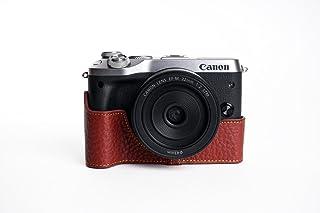 TP handgemachte echte echte lederne halbe Kamera Kasten Beutel Abdeckung für CANON EOS M6 Brown Farbe