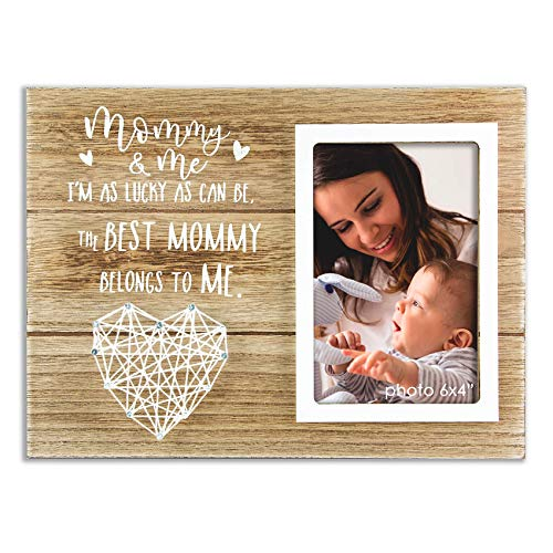 VILIGHT Mommy Gift New Mom Picture Frame - Wife Presents Ideas for First Time Mother - 4x6 Photo