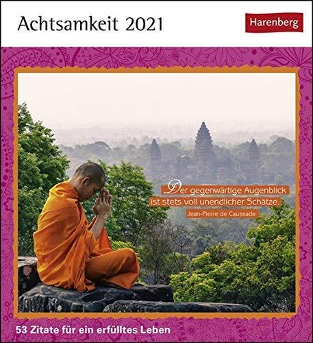 Postkartenkalender Achtsamkeit - Kalender 2021 - Harenberg-Verlag - Postkartenkalender mit 53 heraustrennbaren Postkarten - 15,8 cm x 18 cm