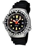 Taucher Uhr m. Automatik Werk Saphir Glas PU Band Helium Ventil T0079