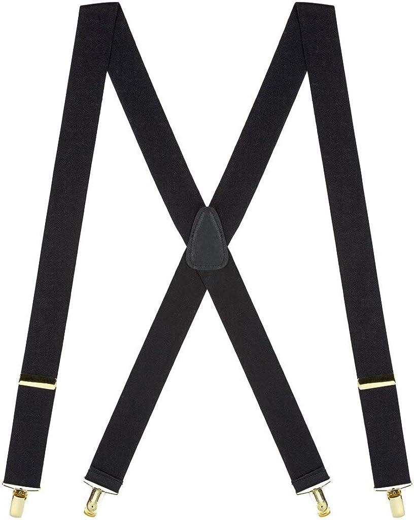 SuspenderStore Men's price Brass Clip Suspenders High quality - Inch 1.5 Wide