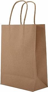 PPLAS 10 pcs/lot Sac de Papier Kraft Multifonctions avec poignée Sac Recyclable Chaussures en Tissu à la Mode Sacs en Papi...