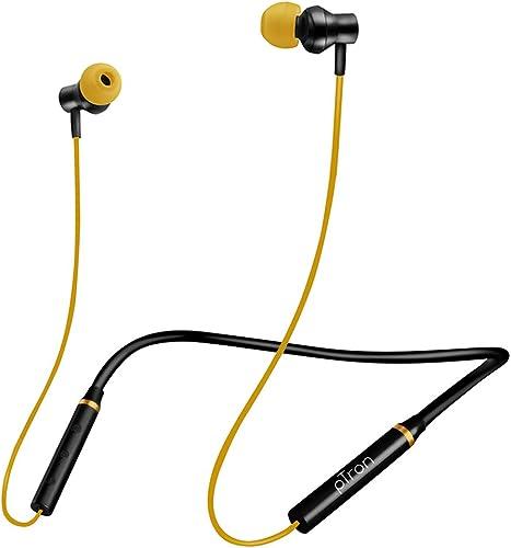 pTron Tangentbeat Bluetooth 5.0 Wireless Headphones with Deep Bass, Ergonomic, IPX4 Sweat/Waterproof Neckband, Magnet...