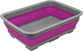 Summit 10 Litres Purple Folding Bucket Collapsible Water Carrier Silicone Purple