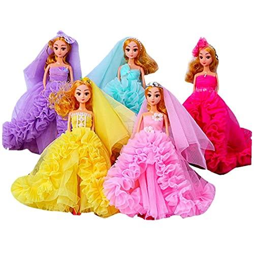 fregthf Puppe Anhänger Kawaii Hochzeits Blumen Kleid Prinzessin Puppe Keychain Netter Schlüsselanhänger für Kinder Erwachsene zufällige Farbe 1 Stück