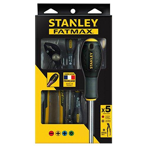 Stanley FMHT0-62639 destornilladores FatMax-Juego 7 Pîezas Plana/Phillips/Alicate Pico de Loro