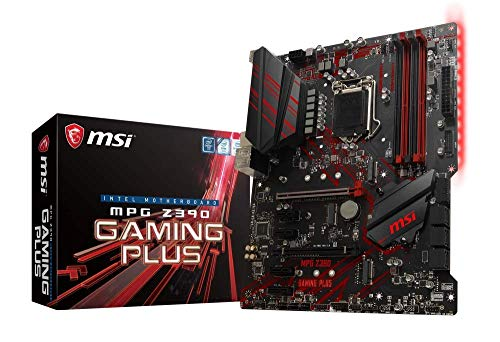 Photo of MSI MPG Z390 GAMING PLUS Motherboard ATX, LGA1151, DDR4, LAN, USB 3.1 Gen2, Type-C, M.2, Red Ambient Light, HDMI, DVI-D, Support 8th generation