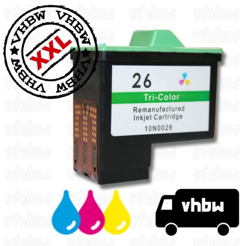 Cartucho de Tinta de Color para LEXMARK x-Serie: x1110, x1130, x1140, x1150, x1155, x1160 etc. Es un Recambio del Original NR.26 10N0026 NR.27 10N0227