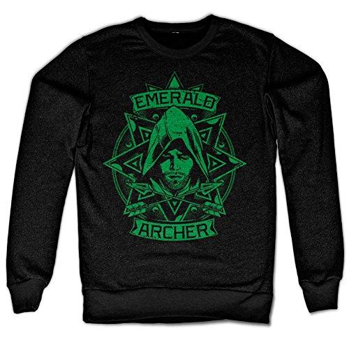 Arrow - Emerald Archer Sweatshirt (Black), Large