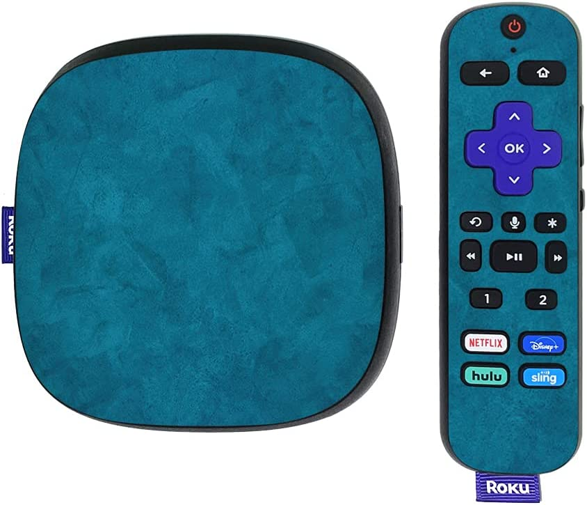 MightySkins Skin Compatible with Roku Ultra HDR 4K Streaming Media Player (2020) - Blue Strokes | Protective, Durable, and Unique Vinyl Decal wrap Cover | Easy to Apply | Made in The USA