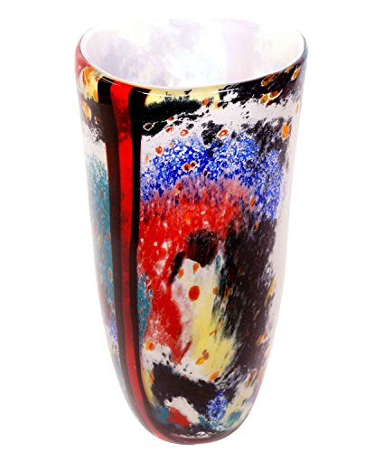 Vaso di Vetro Stile Murano Stile Antico 38cm