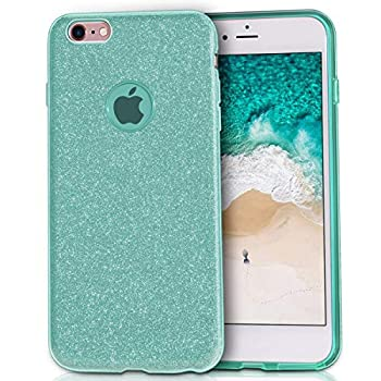 Compatible iPhone 6 Compatible iPhone 6s MILPROX Shiny Glitter Sparkly iPhone 6s Case/iPhone 6 Case - Green