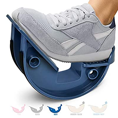 Yes4All Foot Rocker – Calf Stretcher for Pain Relief with Options Available (E. Navy – Unilateral – Plastic), L1CF
